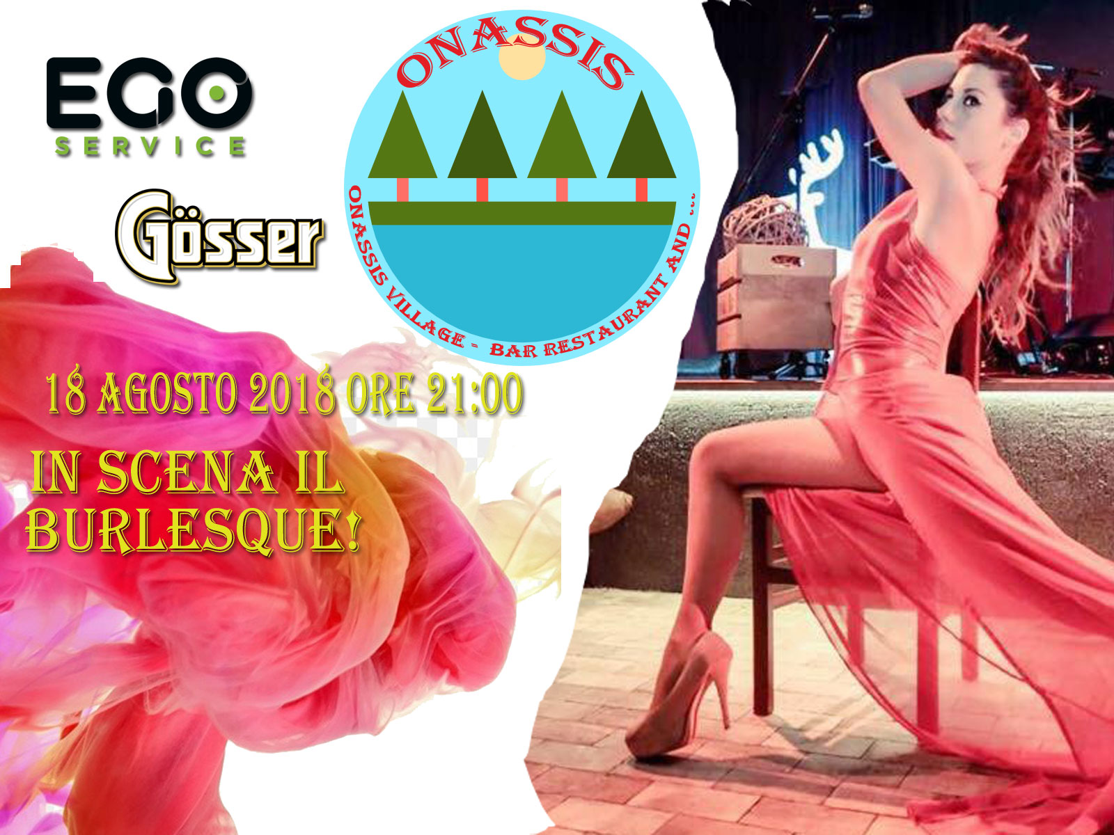 All'Onassis, serata  Burlesque!